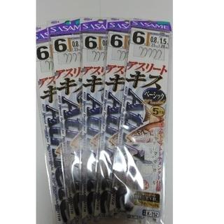 【新品】ササメ キス 仕掛け 6号 5本針1組 5枚セット(釣り糸/ライン)