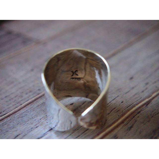 シルバー(silver925)リング【超幅広・槌目】 レディースのアクセサリー(リング(指輪))の商品写真