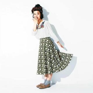 イーハイフンワールドギャラリー(E hyphen world gallery)のスカート ドット柄(ひざ丈スカート)