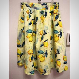 グラニフ(Graniph)のグラニフ 檸檬スカート(ひざ丈スカート)