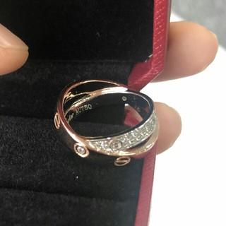 カルティエ(Cartier)のカルティエ ラブリング ハーフダイヤ(リング(指輪))
