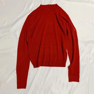 グレイル(GRL)のグレイル ハイネックニットトップス 赤 レッド 長袖(ニット/セーター)