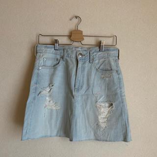 ローリーズファーム(LOWRYS FARM)のデニムタイトスカート(ミニスカート)