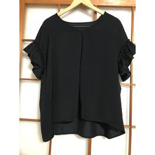 ジーユー(GU)のGUフリルチュニック(シャツ/ブラウス(半袖/袖なし))