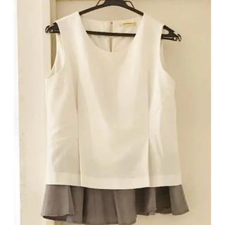 ローズバッド(ROSE BUD)のローズバッド ペプラムカットソー(シャツ/ブラウス(半袖/袖なし))