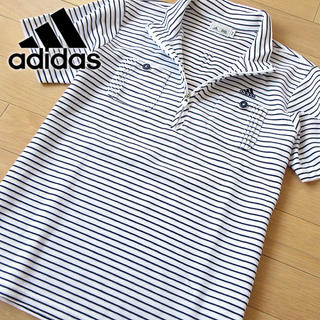アディダス(adidas)の超美品 Mサイズ アディダス ゴルフ レディース 半袖カットソー(ウエア)