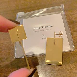 イエナ(IENA)のANNE THOMAS フランス製 ゴールドピアス 美品(ピアス)