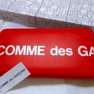 コムデギャルソン(COMME des GARCONS)の新品コムデギャルソンHuge Logo Wallet財布 Red(長財布)