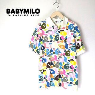 アベイシングエイプ(A BATHING APE)のape エイプ BABY MILO 名作!マルチカモ/迷彩 ポロシャツ(ポロシャツ)