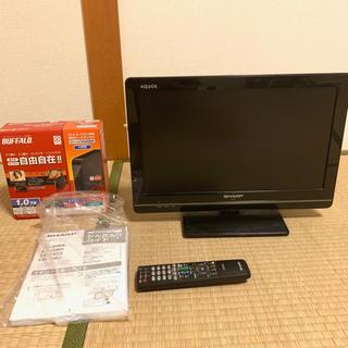 アクオス(AQUOS)の液晶テレビ SHARP AQUOS 19型 BUFFALO外付けHDD(テレビ)
