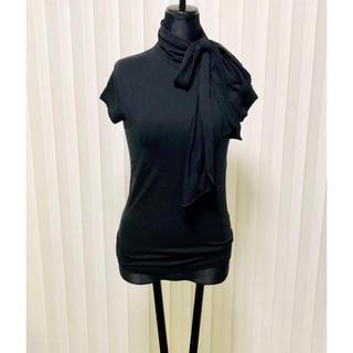 ラルフローレン(Ralph Lauren)のラルフローレン トップス カットソー 襟 リボン 豪華 ブラック ラルフ(カットソー(半袖/袖なし))