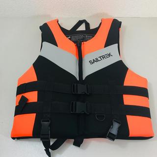 釣り用ベスト ハイグレード ライフジャケット 救命胴衣 Lサイズ(ウエア)