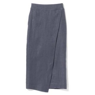 Demi-Luxe BEAMS - 極美品 リネンタイトスカート GREY 36