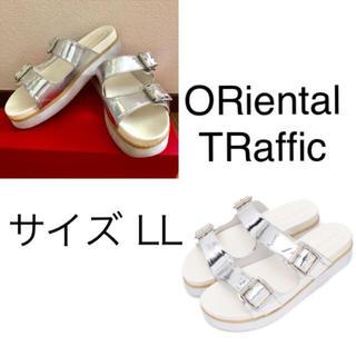 オリエンタルトラフィック(ORiental TRaffic)のORiental TRaffic 厚底 フットベッドサンダル(LL)(サンダル)