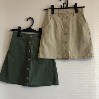ウィゴー(WEGO)の【WEGO】台形スカート 2点セット(ひざ丈スカート)