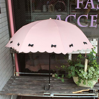 ピンクトリック(pink trick)の未使用 ピンクトリック 折りたたみ傘 ピンク×黒(傘)