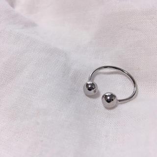 バブルス(Bubbles)のボディピアス風 オープンリング silver(リング(指輪))