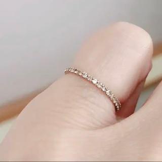 K10ダイヤモンドピンキーリング(リング(指輪))