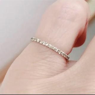 K10WGダイヤモンドピンキーリング(リング(指輪))