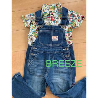 ブリーズ(BREEZE)の【美品】BREEZE  オーバーオール サロペット 100㎝(パンツ/スパッツ)