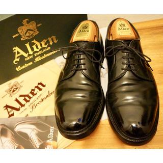 Alden - オールデン  9901 状態良好品 ブラックシェルコードバン us8