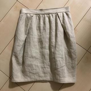 ドゥロワー(Drawer)のドゥロワー購入麻スカート(ひざ丈スカート)