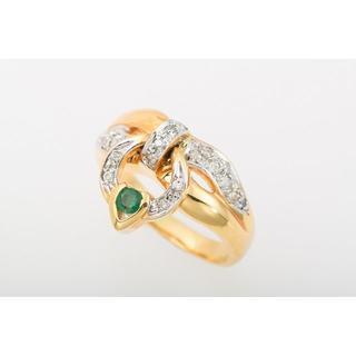K18 エメラルド・ダイヤモンド 2Wayリング 品番6-191(リング(指輪))
