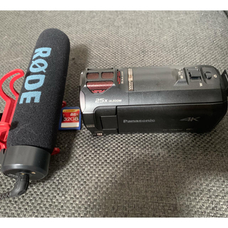 Panasonic - Panasonic HC-VX985M RODEマイク付 バッテリー2個セット