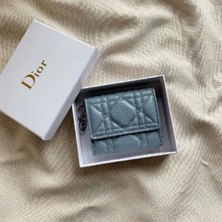 ディオール(Dior)のDiorディオール 三つたたみ  ブルー  新品美品(財布)