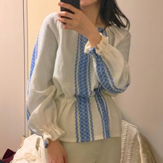 イザベルマラン(Isabel Marant)のVintage 刺繍ブラウス(シャツ/ブラウス(長袖/七分))