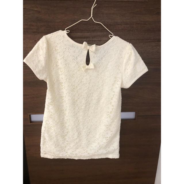 しまむら(シマムラ)のレース リボンシャツ レディースのトップス(Tシャツ(半袖/袖なし))の商品写真