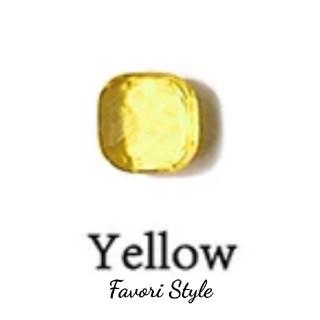 フォクシー(FOXEY)のカラーストーン  リング イエロー × ゴールド (リング(指輪))