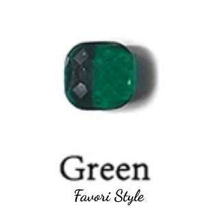ドゥロワー(Drawer)のカラーストーン リング  グリーン × ゴールド(リング(指輪))