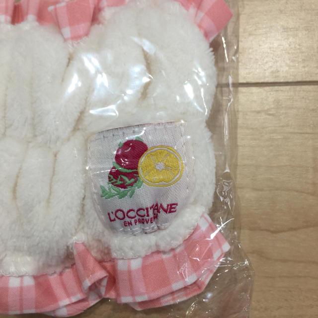 L'OCCITANE(ロクシタン)のロクシタン  非売品  ヘアターバン レディースのヘアアクセサリー(ヘアバンド)の商品写真