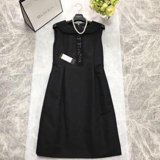 フォクシー(FOXEY)の新品同様 フォクシー FOXEY 最高級シルク ドレス ブラック ワンピース(ひざ丈ワンピース)