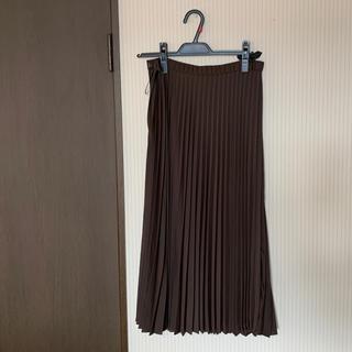 エニィスィス(anySiS)のanySiS ブラウンプリーツスカート(ロングスカート)
