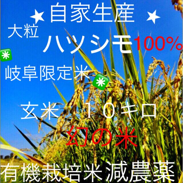 ✳️30年度 ハツシモ✳️玄米10キロ 食品/飲料/酒の食品(米/穀物)の商品写真