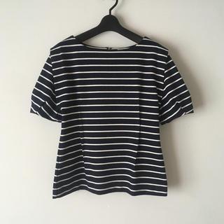ランバンオンブルー(LANVIN en Bleu)のLANVIN en Bleu ボーダー Tシャツ カットソー(Tシャツ(半袖/袖なし))