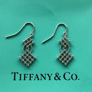 ティファニー(Tiffany & Co.)の超美品❤Tiffany&Co.❤フリンジ トライアングル ピアス❤18Kホワイト(ピアス)
