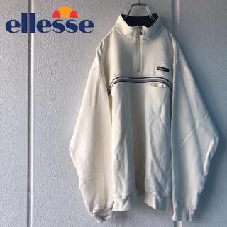 エレッセ(ellesse)のellsse ハーフジップスウェット 90s 古着(スウェット)