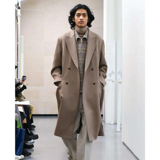 コモリ(COMOLI)のAURALEE  WOOL SERGE CHECK ZIP-UP BLOUSON(ブルゾン)