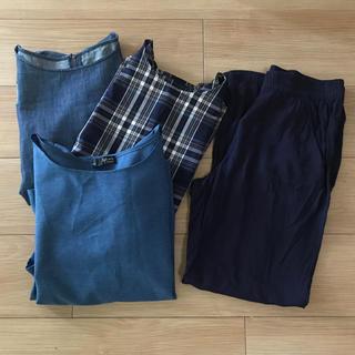 ジーユー(GU)のお出かけ4点セット(Tシャツ(半袖/袖なし))