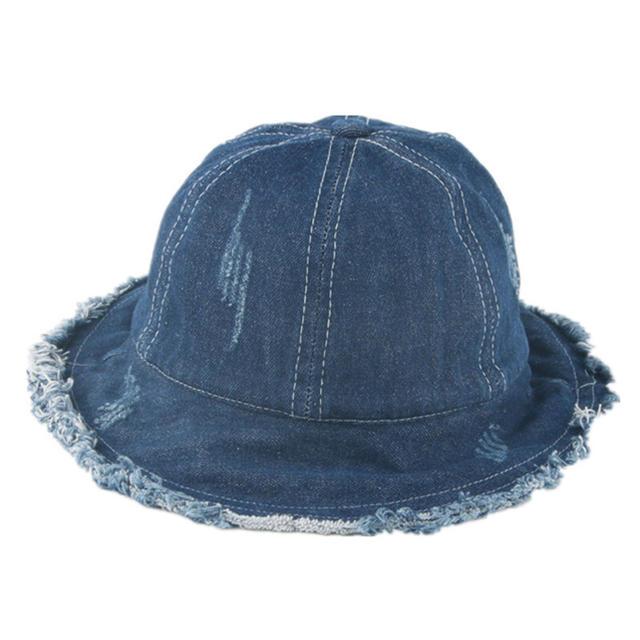 ❝新品❞デニムハット キッズ/ベビー/マタニティのこども用ファッション小物(帽子)の商品写真