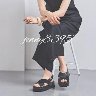 UNITED ARROWS - 新品✨UWSC CROS HAIR サンダル†  37h  ブラック