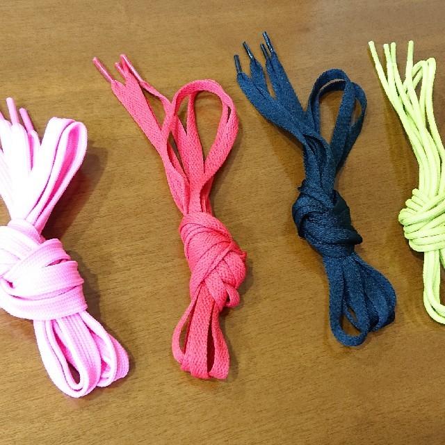 adidas(アディダス)の☆4種類セット!☆ ピンク+赤+黒+黄 靴紐 靴ひも くつひも シューレース! レディースの靴/シューズ(スニーカー)の商品写真