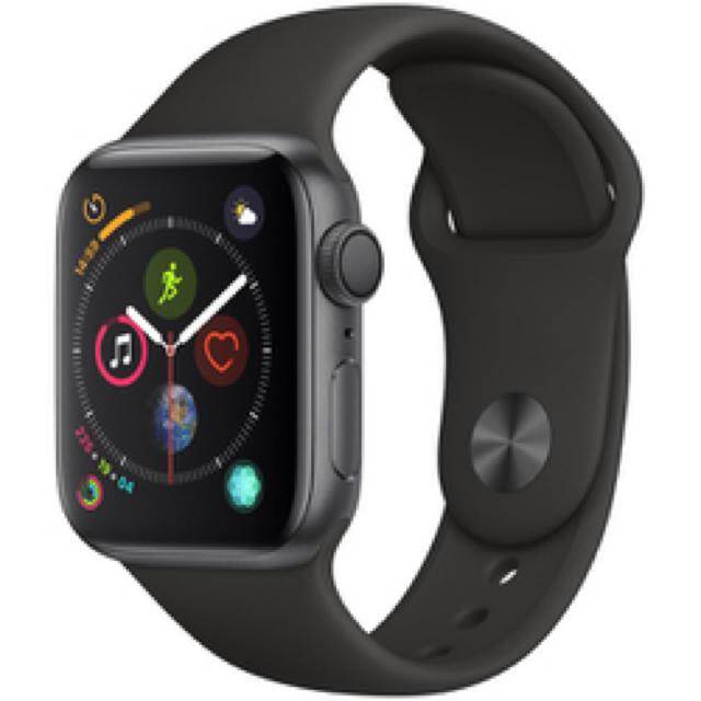 Apple Watch(アップルウォッチ)の新品 ◎AppleWatch Series4 GPSモデル ◎スペースグレイ メンズの時計(腕時計(デジタル))の商品写真