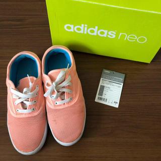 アディダス(adidas)のアディダス ネオ ピンク オレンジ スニーカー (スニーカー)