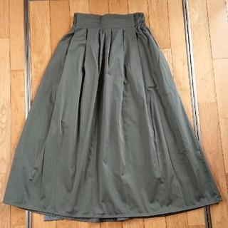 イーハイフンワールドギャラリー(E hyphen world gallery)の膝丈スカート カーキ(ひざ丈スカート)