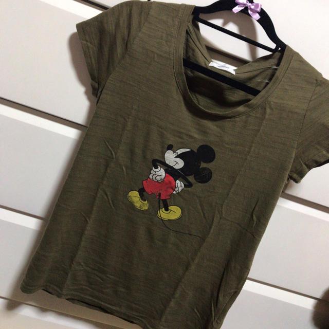 Disney(ディズニー)のミッキー    半袖 Tシャツ レディースのトップス(Tシャツ(半袖/袖なし))の商品写真