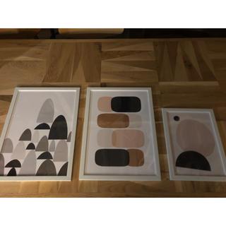 北欧アート ポスター 額縁付き 額装 スケッチ ディスプレイ 絵画(アート/写真)